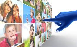 Sozialmedianetz. Stockfoto