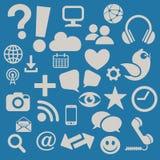 Sozialmedien-Ikonen Lizenzfreie Stockfotos
