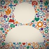Sozialmedien-Profil Lizenzfreie Stockfotografie