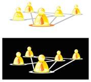 Sozialnetz Lizenzfreies Stockfoto