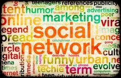 Sozialnetz Lizenzfreie Stockbilder