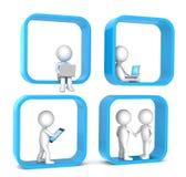 Sozialnetz. Lizenzfreie Stockfotos