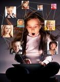 Sozialnetz Stockbild