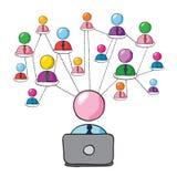 Sozialnetz Lizenzfreie Stockfotos