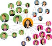 Sozialnetz. Stockfoto