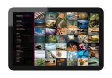 Sozialnetz auf Tablette PC Stockfotografie