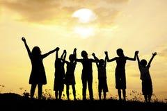 Sozialnetz in der Teamwork lizenzfreie stockfotografie