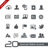 Sozialnetz-Ikonen//-Grundlagen Stockfoto