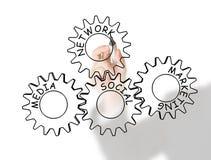 Sozialnetz, Media und Marketing Stockbilder