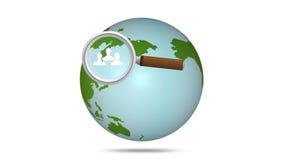 Sozialnetz um die Welt Lizenzfreie Stockfotos