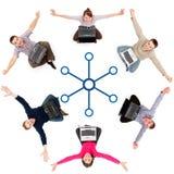 Sozialnetzbauteile Lizenzfreies Stockfoto