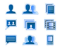 Sozialnetzbenutzerikonen Lizenzfreies Stockfoto