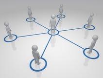 Sozialnetze Stockbild