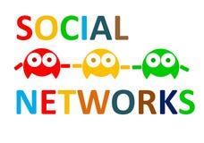 Sozialnetze schließen Leute an lizenzfreie abbildung