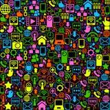 Sozialnetzhintergrund gefärbt Stockfotografie