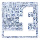 Sozialnetzkonzept Stockbild