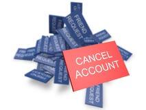 Sozialnetzspamming Stockfoto