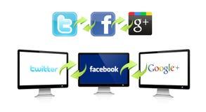 Sozialnetztechnik vektor abbildung