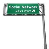 Sozialnetzzeichen Lizenzfreie Stockfotos