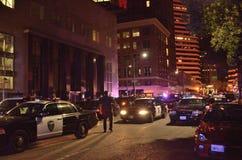 2015 Sozialproteste in im Stadtzentrum gelegenem Oakland Lizenzfreie Stockfotos