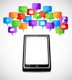 Sozialspracheblasen Lizenzfreies Stockbild
