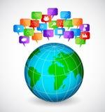 Sozialspracheblasen Lizenzfreie Stockfotos