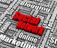 Sozialvernetzung lizenzfreie abbildung