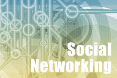 Sozialvernetzungs-Auszug Lizenzfreies Stockbild
