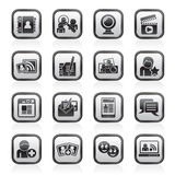 Sozialvernetzungs- und Kommunikationsikonen Lizenzfreies Stockfoto