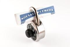 Sozialversicherung padlocked Lizenzfreie Stockfotografie