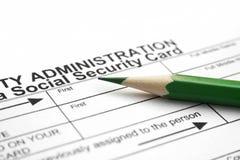 Sozialversicherungkarte Lizenzfreies Stockfoto