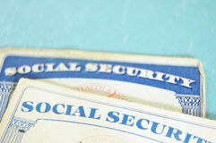 Sozialversicherungkarten Stockfoto
