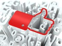 Sozialwerbekonzeption auf Alphabet-Hintergrund. Lizenzfreies Stockfoto
