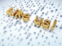 Sozialwerbekonzeption: Golden wie wir! auf digitalem Lizenzfreies Stockfoto