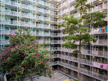 Sozialwohnungszustand in Hong Kong Stockfotografie