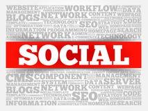 Sozialwortwolke Lizenzfreie Stockbilder