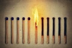 Sozinho ardente Fotografia de Stock