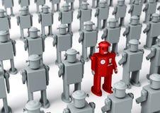 Sozinho na multidão Imagens de Stock