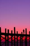 Sozinho na ponte Imagem de Stock
