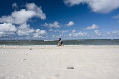 Sozinho na praia Foto de Stock