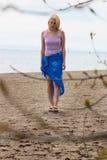 Sozinho na praia Imagens de Stock Royalty Free