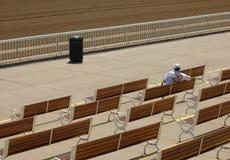 Sozinho na trilha Fotografia de Stock