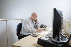 Sozinho no escritório Imagem de Stock Royalty Free