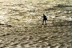 Sozinho no mar Imagens de Stock