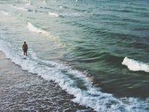 Sozinho no mar Fotografia de Stock