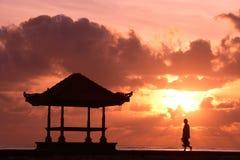 Sozinho no nascer do sol Fotografia de Stock Royalty Free