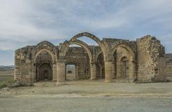 贴水Sozomenos尼科西亚区废墟  塞浦路斯 免版税库存图片