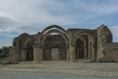 贴水Sozomenos尼科西亚区废墟  塞浦路斯 库存照片