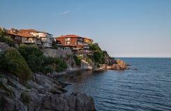 Sozopol,保加利亚视图 库存照片