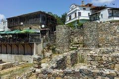 SOZOPOL, ΒΟΥΛΓΑΡΙΑ - 16 ΙΟΥΛΊΟΥ 2016: Αρχαίες καταστροφές στην παλαιά πόλη Sozopol, περιοχή Burgas Στοκ εικόνα με δικαίωμα ελεύθερης χρήσης